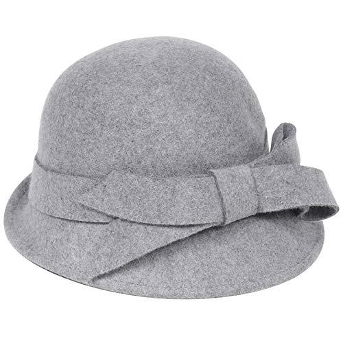 Coucoland Cloche Bucket hoed dames wolvilt retro 1920s hoed dames vilten hoed lint kersk meloen hoed Fedora klassieke bowler hoed