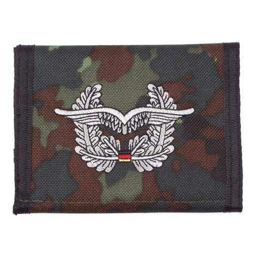 MFH Nylongeldbörse, Flecktarn, Luftwaffe, Klettv, Ausweisf.
