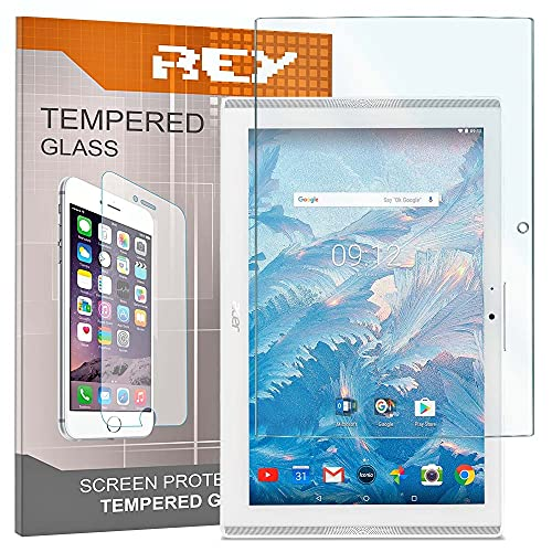 "REY Pack 2X Pellicola salvaschermo per Acer ICONIA One 10 B3-A40 10.1"", Pellicole salvaschermo Vetro Temperato 9H+, di qualità Premium Tablet"