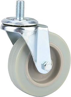 "GONNELY Rubber Spin Caster-4 stks 3 ""Meubels Universele wielen Zachte Rubber Spin Casters Roller Wiel voor Platform Trolle..."