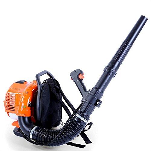 FUXTEC Benzin Laubbläser rückentragbar FX-LB133T – über 300 km/h – rückenschonend und tragbar für große Flächen – Rückenbläser, 2-Takt Blasgerät