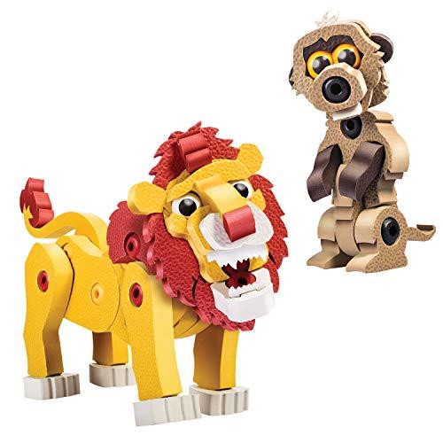 やわらかパズルブロック ブロッコ アニマルシリーズ ライオン&ミーアキャット