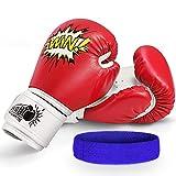 Letsgozzc Guantes Boxeo Mujer, Juguetes Niños 4-12 Años, Guantes de Boxeo para Niños Regalos Cumpleaños...