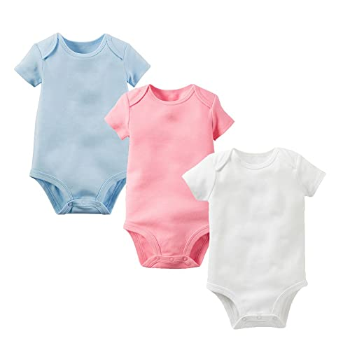 146bbc07e Enfants Chéris 3 Pack Unisex Baby Bodysuit Cotton Short Sleeve Onesies