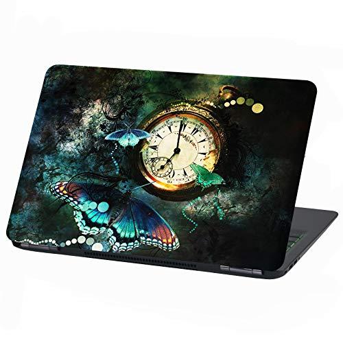 Laptop Folie Cover: Stranger Things Klebefolie Notebook Aufkleber Schutzhülle selbstklebend Vinyl Skin Sticker (17 Zoll, LP34 Mystical Time)