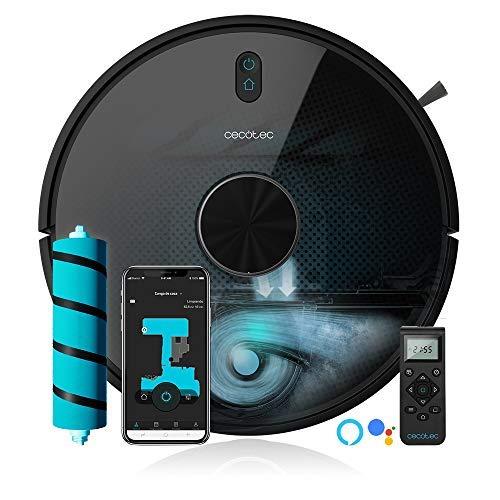 Cecotec Robot Aspirapolvere Conga Serie 5090. App,aspira, passa lo straccio e lava il pavimento, Alexa e Google Assistant, spazzola speciale per animali,8000 Pa, 10 modi pulizia