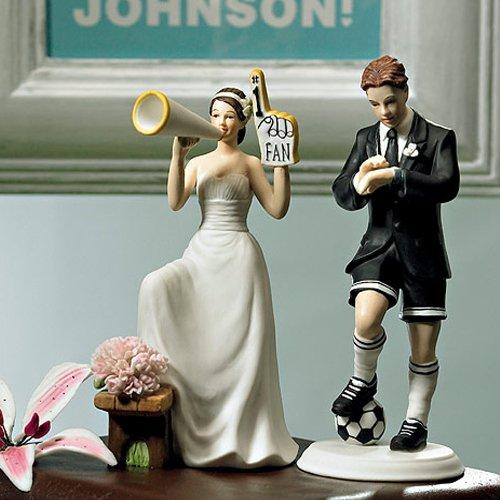 """Tortenfigur Tortenaufsatz """"Cheering"""" für Ihre Hochzeitstorte zur Hochzeit - 9017"""