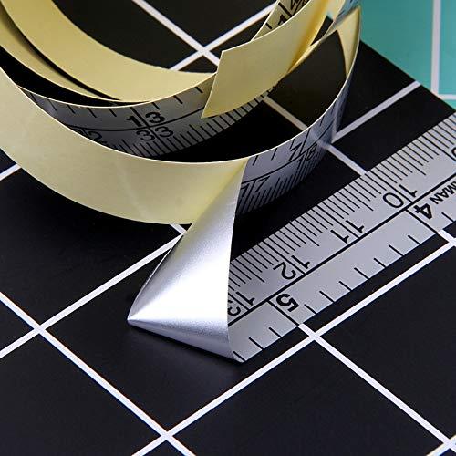 Regla de vinilo de cinta métrica autoadhesiva de 151 cm para máquina de coser, por defecto