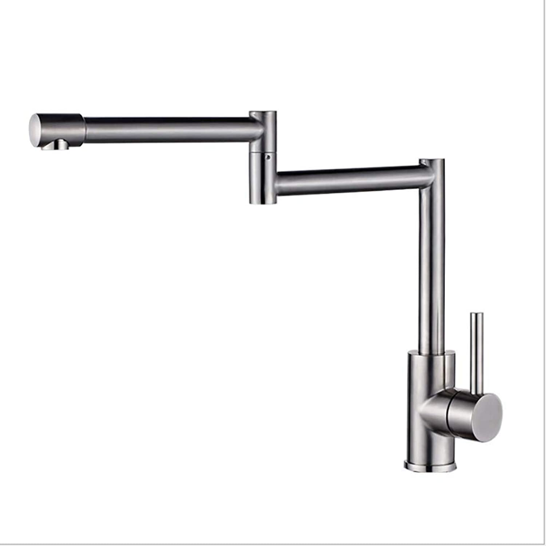 Coolol Single Hole Kitchen Faucet Wall Mount Tap, Folding Faucet Double Joints 360° redatable Kitchen tap