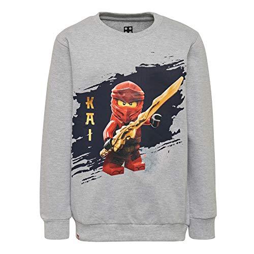 LEGO Jungen CM-50324-SWEATSHIRT Sweatshirt, Grau (Grey Melange 921), (Herstellergröße: 104)