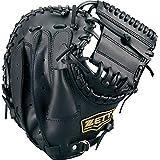 ZETT(ゼット) 軟式野球 ソフトボール 兼用 ライテックス キャッチャーミット ブラック(1900) 右投げ用 BSCB56912