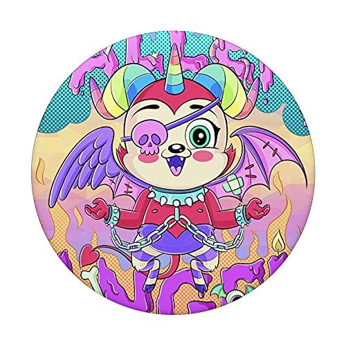 Kawaii Demonio Belial Fallen Angel Pastel Goth Harajuku PopSockets PopGrip Intercambiable