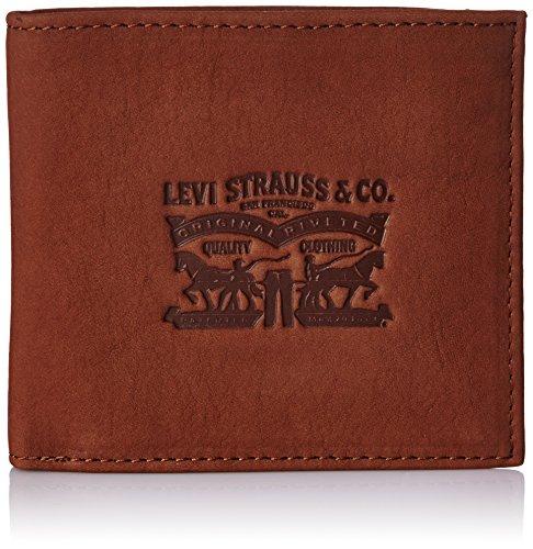 Levi\'s Clairview Coin Bifold 222539-4 Herren Münzbörsen 2 x 10 x 11 cm (B x H x T), Braun (28)