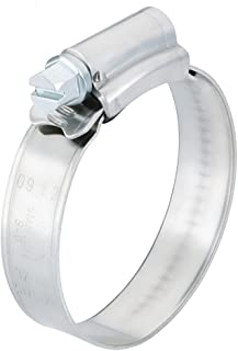 """Scandvik 08134037020 Stainless Steel Hose Clamp (SAE Size 8, 15-24 mm, 5/8"""" - 1"""", 12mm Band, 13624), 10 Pack"""