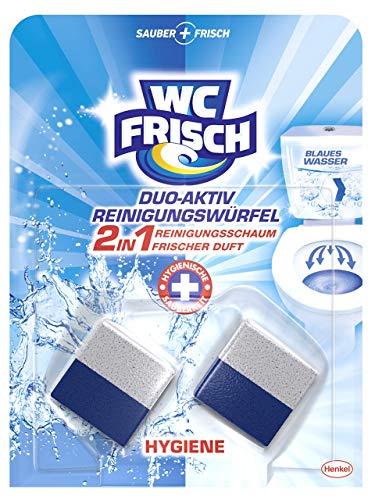 WC FRISCH Duo-Aktiv Reinigungswürfel für Wasserkästen, 1 x 2 Stück, Reinigungsschaum und frischer Duft