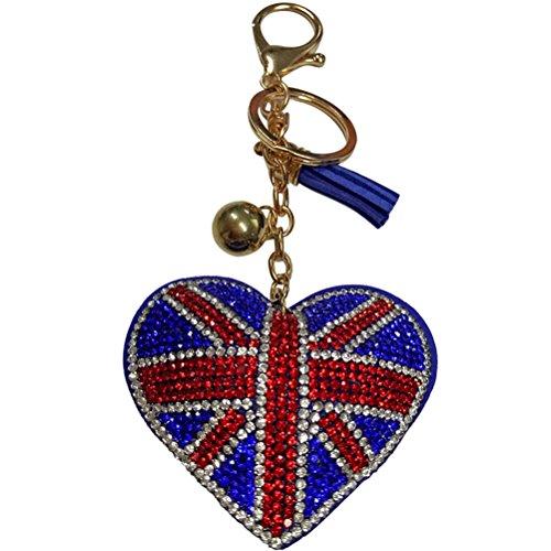 LUOEM Bandera Inglaterra Llavero Llavero
