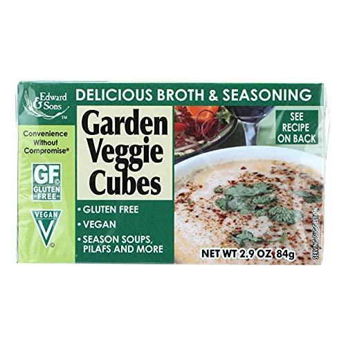 Edward & Sons Garden Veggie Bouillon Cubes, 2.9 Ounce Boxes (Pack of 12)