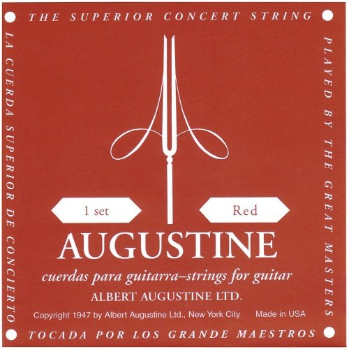 Augustine Satz Klassikgitarrensaiten, rot, Medium Tension