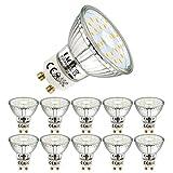 EACLL Ampoules LED GU10 Blanc Neutre Source de lumière 5W 4000K 495 Lumens, Équivalent incandescence halogène 50W. 120 ° Large Faisceau, AC 230V Spots à Réflecteur Sans Scintillement, Pack de 10