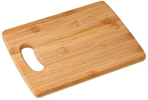 Fackelmann Tabla Cortar de Cocina Bambú 22x16cm, Marrón, 22x16x1cm