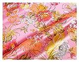 MUYUNXI Tela Saten Tela Raso por Metros para Vestidos De Novias Pijamas Vestidos Blusas Ropa Interior Artesanías 75 Cm De Ancho Vendido por Metro(Color:Fondo Rosa)
