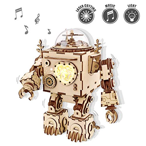ROKR Musical de Madera Puzzle de Madera 3D Mechanical Model