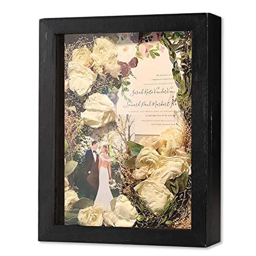 Veichin Shadow Box Bilderrahmen mit Leinenrückseite für Memorabilia Auszeichnungen Medaillen Fotos Memory Box