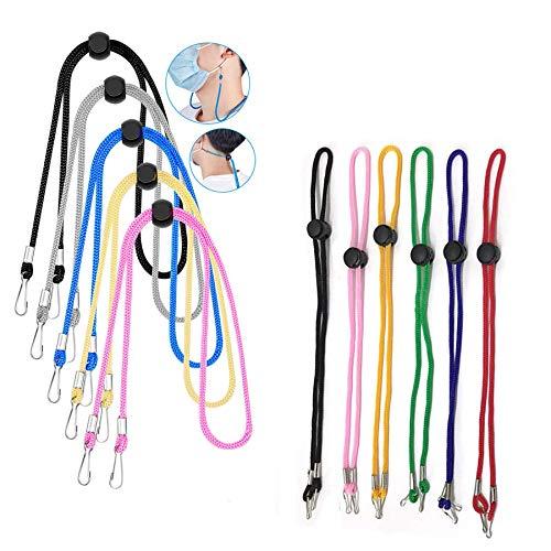 10 Pack Brillenbänder,Brillenband,Sonnenbrillenkette,Brille Seil,Brille Kordel,Brillen Cord,Ohrhaken Verlängerungsriemen,Einstellbare Haken Lanyard(A) (D)