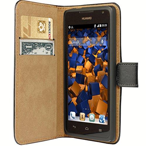mumbi Tasche Bookstyle Case kompatibel mit Huawei Ascend Y530 Hülle Handytasche Case Wallet, schwarz - 3