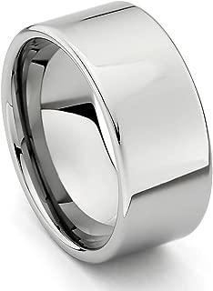10mm Flat Men's Cobalt Free Tungsten Carbide Comfort-fit Wedding Band Ring (Size 8.5 to 14)