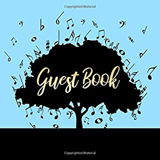 Guest Book: Music Tree Guest Book - Musical Theme Sign in Book for Wedding, Baby Shower, Anniversary, Guest Room, Bathroom, Cabin, Airbnb, Funeral, ... for Name and Address (112 Pages 8.25 x 8.25)