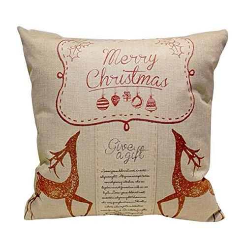 Pillow case, Vovotrade Natale divano letto Home decorazione festival federa cuscino