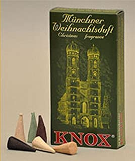 Knox Munich German Incense Cones Variety Pack Made Germany for Christmas Smokers
