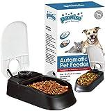 PAWISE Dispensador automático de alimentos para mascotas, 300 ml, con temporizador de 48 horas para perros y gatos, solteros.
