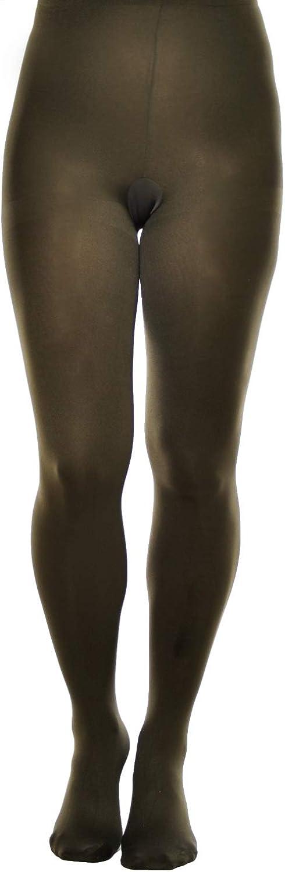 Plus size plain opaque tights multipacks microfibre wide range of colours Aurellie (6/XX-Large - 2 pack, Olive)