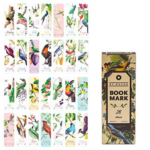 Marcadores de libros, Lychii paquete de marcadores de estilo vintage, 28 tipos de marcadores de papel de diseño retro (Set B)