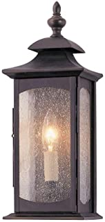 """Feiss OL2600ORB Market Square Outdoor Lighting Wall Pocket Sconce, Bronze, 1-Light (6""""W x 14""""H) 60watts"""