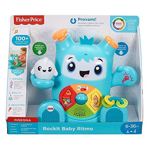 Fisher-Price - Rockit Baby Rhythmus, Elektronisches Lernspielzeug für Kinder ab 6 Monaten, mit Musik und Sound (italienische Version), FXD04