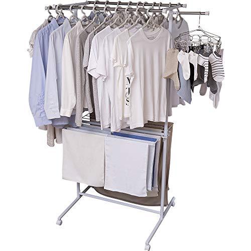 アイリスオーヤマ 洗濯物干し 室内物干し 布団干し 約4人用 折りたためる キャスター付き スチール 幅127cm SLM-820KR