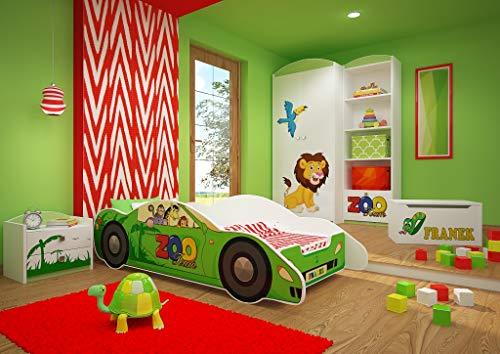 Happy Babies CARBETT - Cama infantil de doble cara, 160 x 80 cm, diseño moderno con bordes seguros y protección contra caídas, colchón de espuma de 7 cm