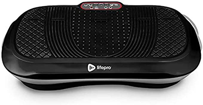 LifePro Waver Vibration Plate Exercise Machine - Whole Body Workout Vibration Fitness Platform w/Loop Bands - Home Training Equipment for Weight Loss & Toning