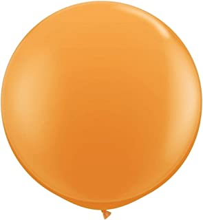 36 inch Giant Latex Balloons for Birthday Wedding Party Decorations, 6 Pcs Orange Large Round Balloon