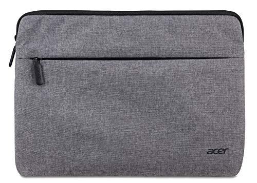 Acer Protective Sleeve (geeignet für bis zu 11,6 Zoll Notebooks & Tablets: Universelle Schutzhülle, wasserabweisendes Außenmaterial, Schutz vor Dreck & Stoßschäden, extra Fronttasche) hellgrau