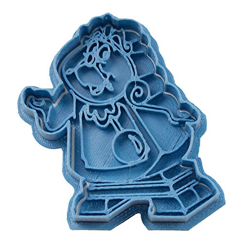 Cuticuter Ding Dong La Bella y la Bestia cortador de galletas, azul. 8x7x1,5cm