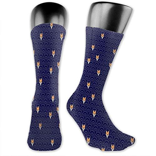Sashiko Shiba - Calcetines deportivos para hombre y mujer, de algodón acolchado, antiampollas, para hombre y mujer, de corte bajo, transpirables, para tobillo