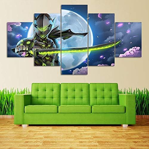 WYJIE HD Video Game Poster Picture Overwatch Genji...