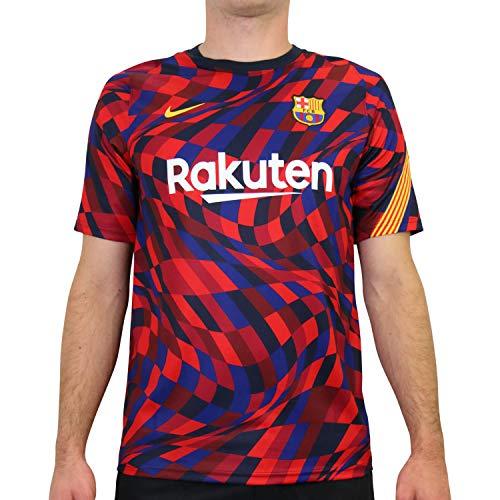 Nike 2020-21 FC Barcelona Dri-Fit Training Top - Red-Blue L