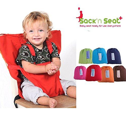 Baby Draagbare kinderstoel Reizen Stoelen Cover Peuter Veiligheid Hoge Stoel Zak Zak Riem - 【Rood】
