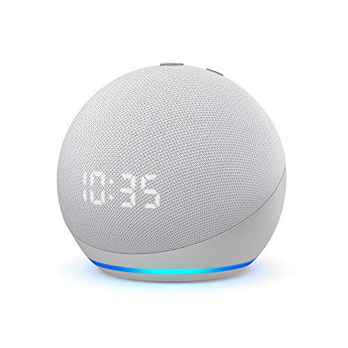 All-new Echo Dot (4th generation) | Smart speaker with clock and Alexa | Glacier White