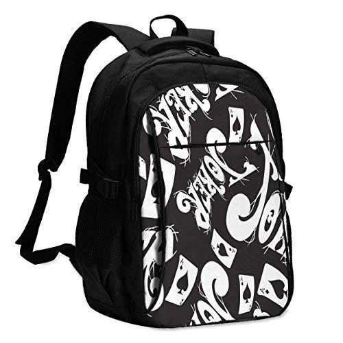 XCNGG Mochila USB con múltiples bolsillos, mochila informal, mochila escolar Personalized Customization, Fashionable Travel Backpack, Men'S And Women'S Computer Bags, Men'S And Women'S Backpacks, Back